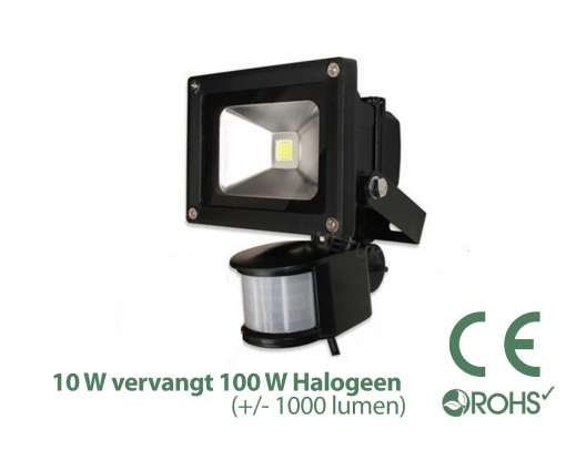 10 Watt LED Baustrahler MIT Bewegungsmelder