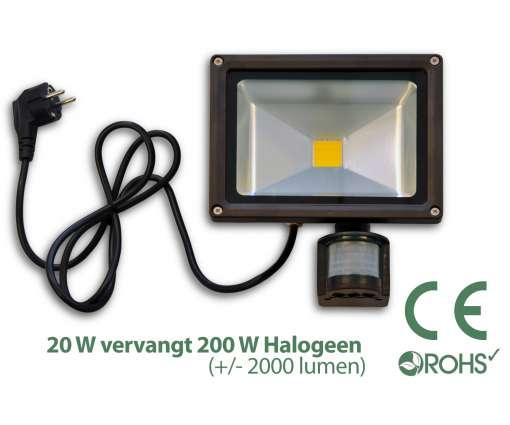 20 Watt LED Baustrahler MIT Bewegungsmelder