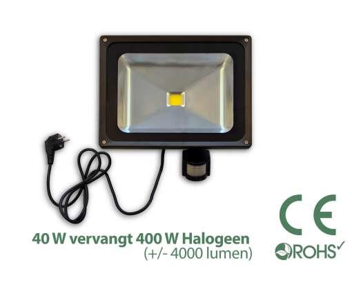 40 Watt LED-Scheinwerfer MIT Bewegungsmelder