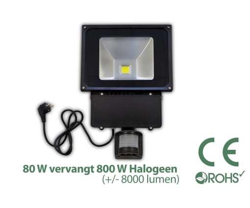 80 Watt LED Baustrahler MIT Bewegungsmelder